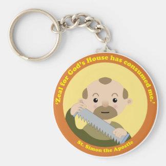 St. Simon the Apostle Basic Round Button Key Ring
