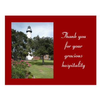 St. Simon's Hospitality Thank You Postcard