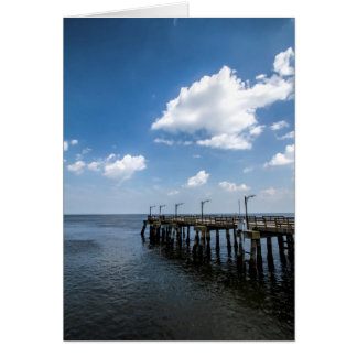 St Simon's Island Georgia Public Dock Greeting Card