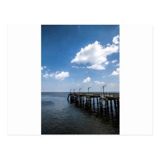 St Simon's Island Georgia Public Dock Postcard