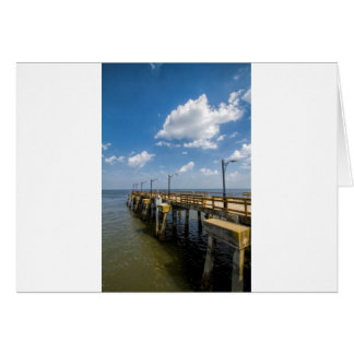 St Simon's Island Georgia Public Pier Greeting Card