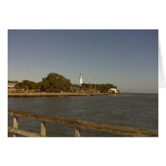St. Simon's Island Lighthouse Greeting Card