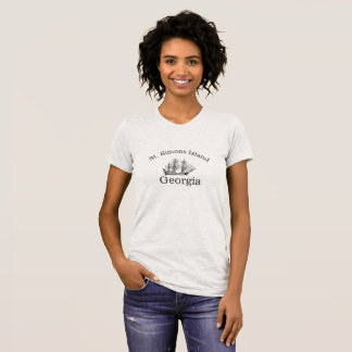 St. Simons Island Tall Ship T-Shirt for women