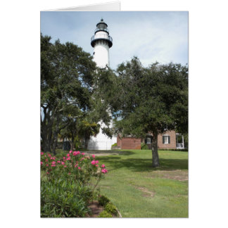 St. Simon's Lighthouse Blank Inside Greeting Card