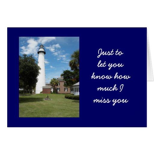 St. Simon's Lighthouse Greeting Cards