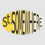St. Somewhere Oval Stickers