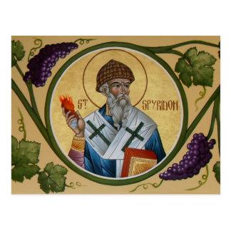 St. Spyridon Prayer Card Postcard