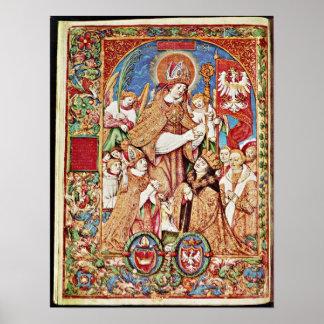 St Stanislaus and King by Stanislaw Samostrzelnik Print
