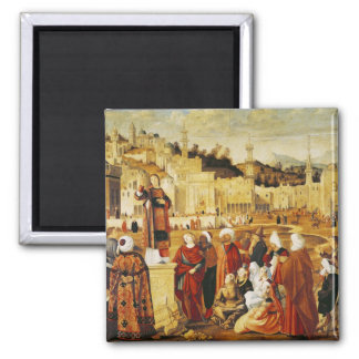 St. Stephen Preaching Square Magnet
