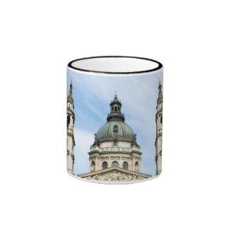 St Stephens Basilica and ClockTower in Budapest Ringer Mug