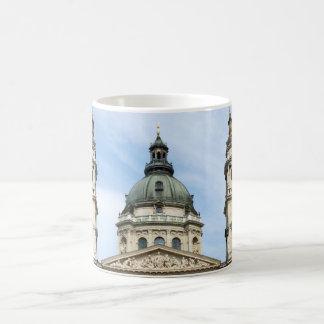 St Stephens Basilica and ClockTower in Budapest Basic White Mug