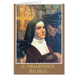 ST. TERESA BENEDICTA OF THE CROSS EDITH STEIN GREETING CARD