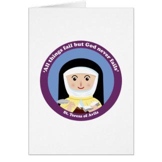 St. Teresa of Avila Card
