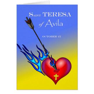St. Teresa of Avila Feast Day, Heart and Arrow Greeting Card