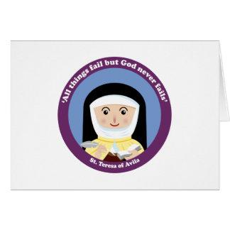 St. Teresa of Avila Greeting Card