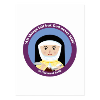 St. Teresa of Avila Postcard