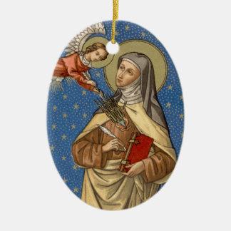 St. Teresa of Avila (SAU 28) Blank/DIY Back Oval Christmas Ornament