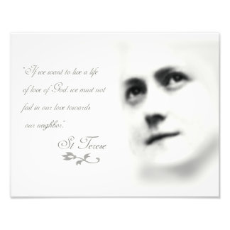 St Terese on Love Photographic Print