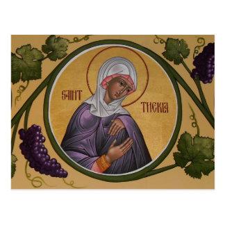 St. Thekla Prayer Card Postcard