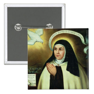 St. Theresa of Avila  1570 15 Cm Square Badge