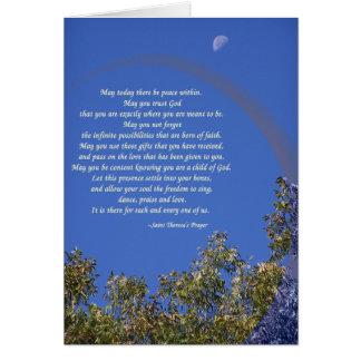 St Theresa s Prayer Card
