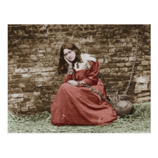 ST THERESE AS JOAN OF ARC.COLORIZED POSTCARD