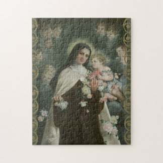 St. Therese Little Flower Roses Angels Cherubs Puzzle