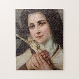 St. Therese Little Flower with Crucifix Puzzle