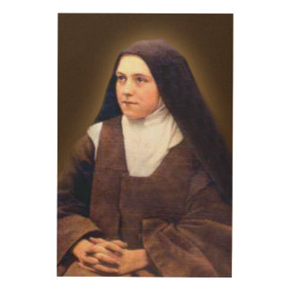 St Therese of Lisieux Wood Print