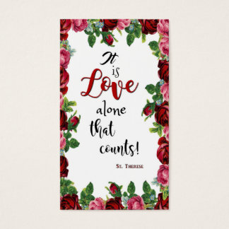 St. Therese Roses Little Flower Calligraphy Quote