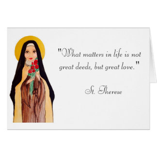 """St. Therese """"The Little Flower."""" Card"""