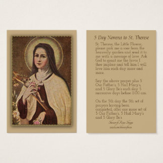 St. Therese the Little Flower Novena Cards