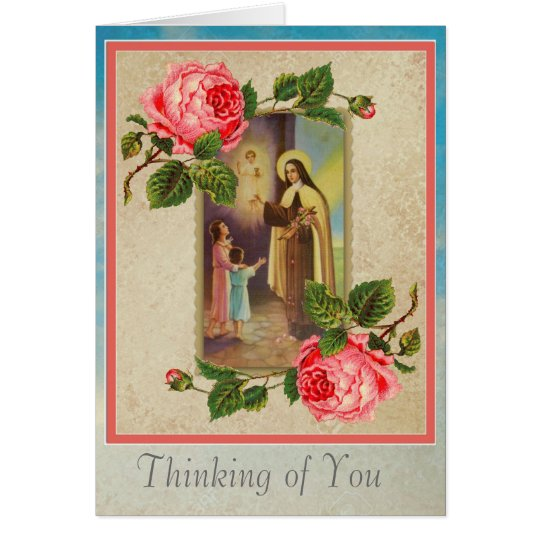 St. Therese with Children & Child Jesus Eucharist Card