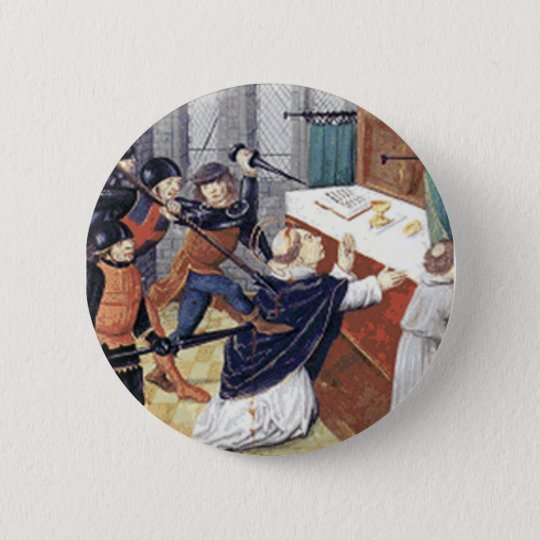 St. Thomas a Becket 6 Cm Round Badge