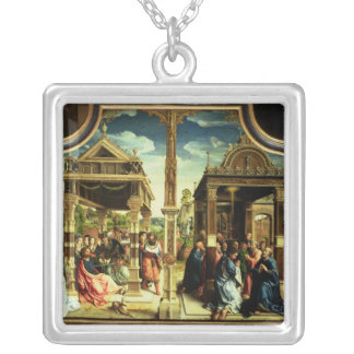 St. Thomas and St. Matthew Altarpiece Silver Plated Necklace