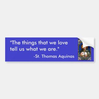 St. Thomas Aquinas Bumper Sticker