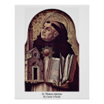 St. Thomas Aquinas By Carlo Crivelli Poster