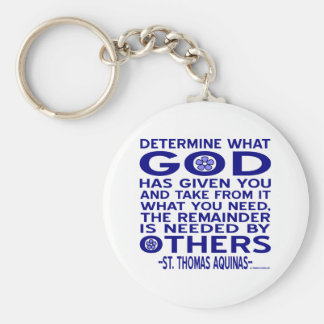 St. Thomas Aquinas Quote Basic Round Button Key Ring