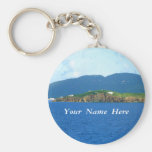 St. Thomas Arrival Personalised Basic Round Button Key Ring