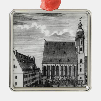 St. Thomas Church and School in Leipzig, 1723 Christmas Ornament