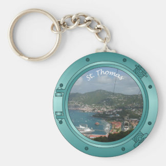St Thomas Porthole Basic Round Button Key Ring