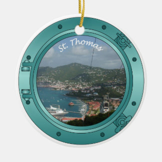 St Thomas Porthole Christmas Ornament