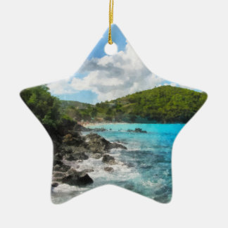 St. Thomas Shoreline Christmas Ornament