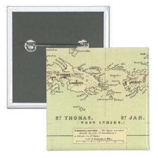 St Thomas, St Jan, St Crook 15 Cm Square Badge