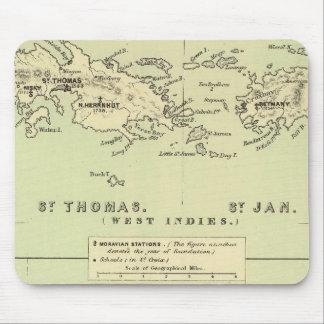 St Thomas, St Jan, St Crook Mouse Pad