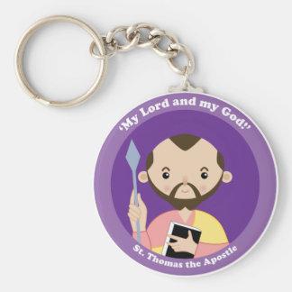 St. Thomas the Apostle Basic Round Button Key Ring