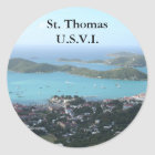 St. Thomas U.S.V.I. Classic Round Sticker