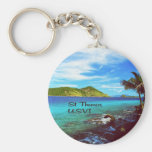 St. Thomas view from Coral World Keychain