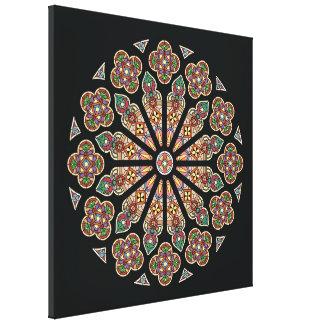 "St. Thomas Window canvas 24x24"" Canvas Print"
