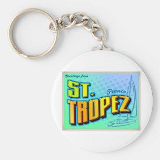 ST. TROPEZ BASIC ROUND BUTTON KEY RING